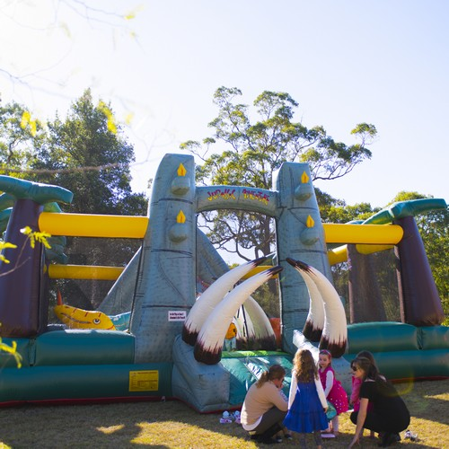 Jurassic Adventure Inflatable Ride for Hire - Carnival Rides Sydney