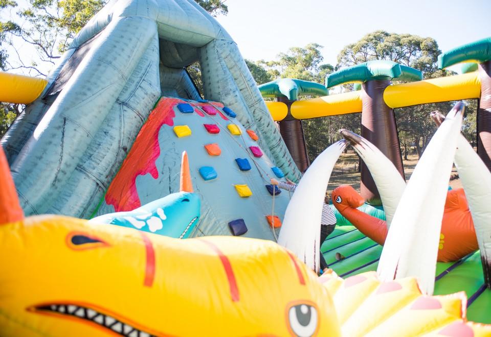 Jurassic Adventure Inflatable Ride for Hire Sydney - Amusement Rides Sydney